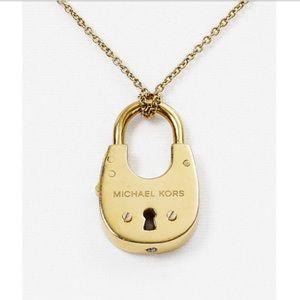 Michael Kors lock pendant necklace